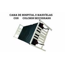 Cama Para Hospital Con Colchon Seccionado 5posiciones Manual