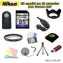 Kit Para Nikon D3000 D3100 D3200 D3300 D5000 D5100
