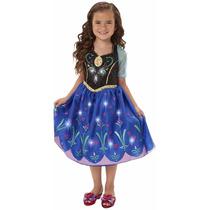 Disfraz Anna Frozen Musical Con Luces 4t, Zapatos Y Corona