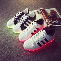 Tenis Adidas Superstar Luz Led 7 Colores Unisex