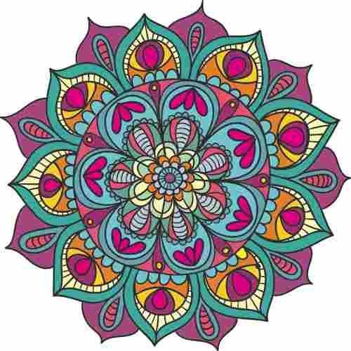 Vinilo Decorativo Mandalas 56cm Varios Modelos Colores 71000 En