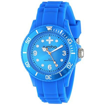 Rumbatime Unisex Banda De Silicona Perry 38mm Azul Reloj