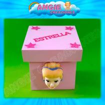 Cajitas Princesas Disney Souvenirs Apliques Porcelana Fria