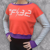 Buzo Street Cf32 (coral/gris/vio) Crossfit Running Fitness