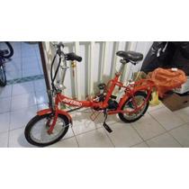 Bicicleta Marca Anferro Modelo Plegable Color Rojo Excelente