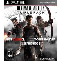 Tomb Raider + Just Cause 2 + Sleeping Mídia Física Ps3