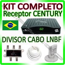 Kit Receptor Century Nanobox + Lnbf Multi + Cabo + Divisor