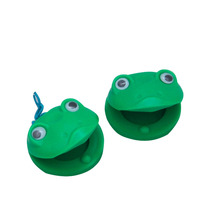 Castanholas Infantis Zion Sapinho Verde Plástico 5,5cm (par)