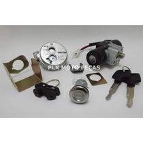Kit Chave Ignição Biz 125 2006 A 2008 Trava Magnética 3 Pçs