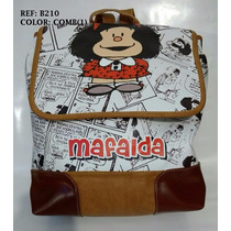 Morral Mafalda Amplio Cabe Portatil Miel Dama Envío Gratis