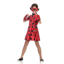 Fantasia Ladybug Infantil Vestido Miraculous Original P M G