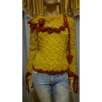 Sweater Pullover Mujer Tejidos Artesanales Diseño Exclusivo