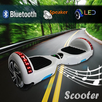 Scooter Patineta Eléctrica Bocinas Bluetooth Luces Led