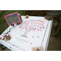 Cuadro Arbol Huellas Casamiento 15 Años Bautismo Baby Shower