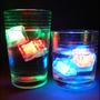 12 Hielos Cubo Led Fluor Glow, Cotillon, Led, Luces Fiestacl