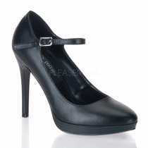 Zapatillas Marca Pin Up Couture Bliss-31 Stilettos Piel Faux