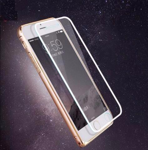 2bf3ccb93e3 Pelicula Vidro Tela Inteira - Borda Alumínio iPhone 6/7s/7 - R$ 19,99 em  Mercado Livre