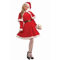 Dulce Señorita Santa Claus Foro Novedades Femenina, Rojo/bl