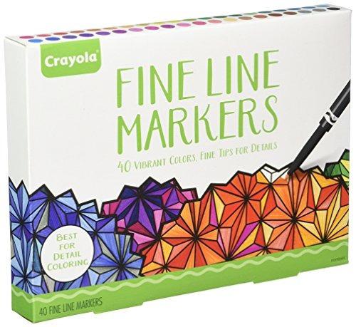 Crayola Para Colorear Adulto, 40ct Fine Line Marcadores - $ 869.00 ...
