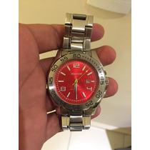 Relógio Magnum Com Mostrador Vermelho - Mod: Ma31524