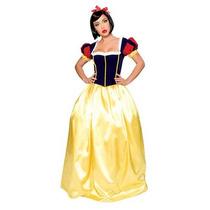 Fantasia Vestido Branca De Neve Adulto + Tiara Oferta