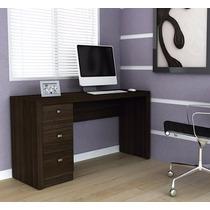 Escrivaninha Mesa Computador Escritório Estudos 3 Gavetas