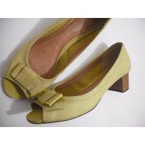 Sapato Tipo Peep Toe Datelli Amarelo Tam 38 Bom Estado
