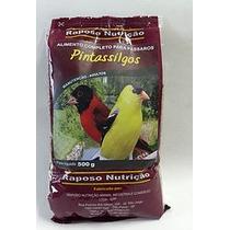 Fardo 5 Pct/400g Ração Pássaro: Pintassilgo Raposo Nutrição