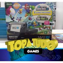 Nintendo Wii U Deluxe 32gb Seminovo + 2 Jogos Garantia Bh