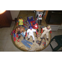 Coleccion De Figuras De Acción De Spiderman Toy Biz Con Moto