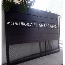 Porton Corredizo En Metal Desplegado Oferta!!!!