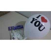25 Balões/bexigas Decorados Estampa I Love You