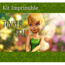2x1 Kit Imprimible Tinker Bell Campanita Invitaciones Fiesta