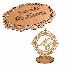 Placa Guardião Das Alianças + Topo De Bolo Mdf Personalizado