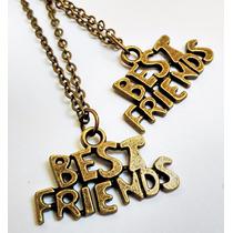 Colar Bff Best Friend Forever 2 Peças