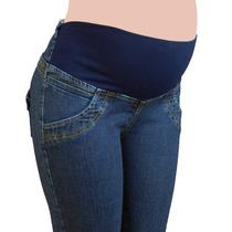 Pantalon Materno Jean Diseños Originales A La Moda Ref: 2604