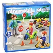 Playmobil 5571 Niños Con Seguridad Vial Ciudad