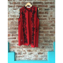 Chaleco Rojo De Lana - Diseño Independiente Poty Hernandez
