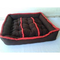 Cama 90x90x18cm Luxo Para Cachorros Grandes Labrador
