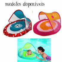 Boia Swimways P/bebes Com Cabaninha Proteção Uv 50+importado