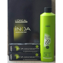 Loreal Kit Inoa Oxidante 20vol. 1l + 2 Coloração Inoa