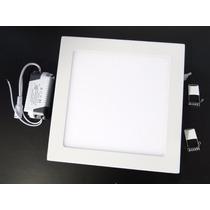 Luminaria Led 25w Plafon Embutir Teto Quadrado Gesso Slim