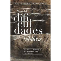 Manual De Dificuldades Bíblicas Livro Frete Grátis
