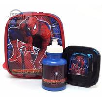 Lancheira Térmica Infantil Homem Aranha Spider Man Azul