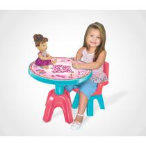 Mesa Com Cadeira Infantil Boneca Baby Alive Original Lider