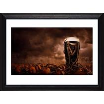 Cuadros Cerveza Guinness! Marco Madera+vidrio+foto! Deco Pub