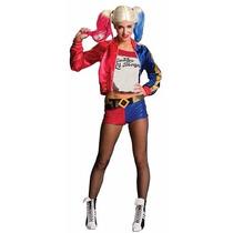 Disfraz Completo De Harley Quinn. Deluxe P/ Fiesta Halloween