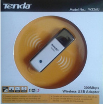 Pendrive Wifi Adaptador Usb Tenda W326u Inalámbrico 300 Mbps