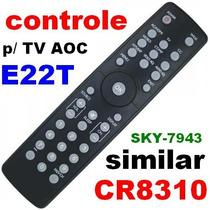 Controle Remoto Tv Philips Aoc E22t Sky-7943 Similar Cr8310