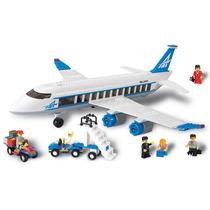 Blocos De Encaixe Avião De Passageiros 434 Pçs Xalingo